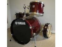 Yamaha Stage Custom Advantage Nouveau Cranberry 4 Piece Drum Kit - Brand New Evans Heads