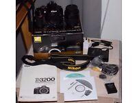 Nikon D3200 with 18-55 VRII lens