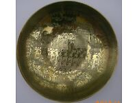 Brass Engraved Bowl / Wall Hanging Bristol (Oldland Common)