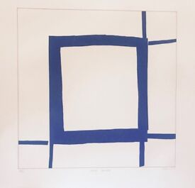 Sandra Blow - The Square signed and numbered etching