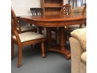 ** LARGE DINING TABLE & 4 DINING CHAIRS **