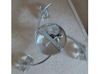 3 Pendant Chrome & Glass Ceiling Light