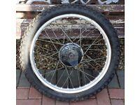 "Bultaco Twinshock - 21"" Front Wheel Assembly"