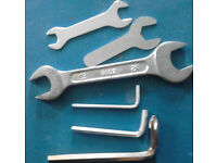 Set of 3 Hex Key Set and Set of 3 Wrench Set in Various Sizes+GET 3 FREE HINGES!