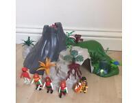 Playmobil exploding volcano treasure island pirates Viking dinosaur large playset like Lego toy