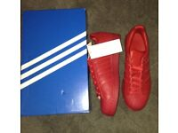Adidas Original superstars red/new condition not used/men size 7/with box and tag/