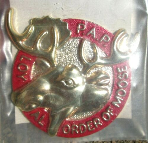NEW P.A.P. Loyal Order Of Moose Stick on Emblem for Vehicles Etc.