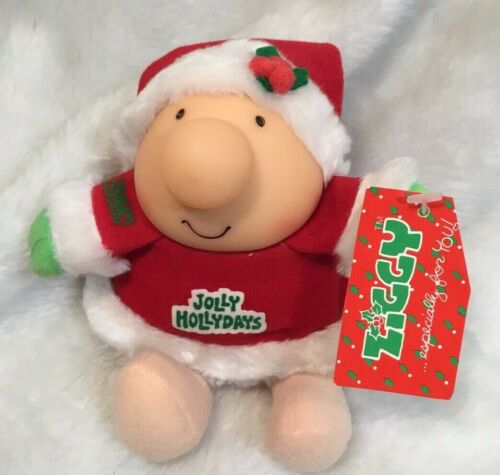 Vintage 1985 Ziggy Christmas Plush Santa Jolly Hollydays Doll American Greetings