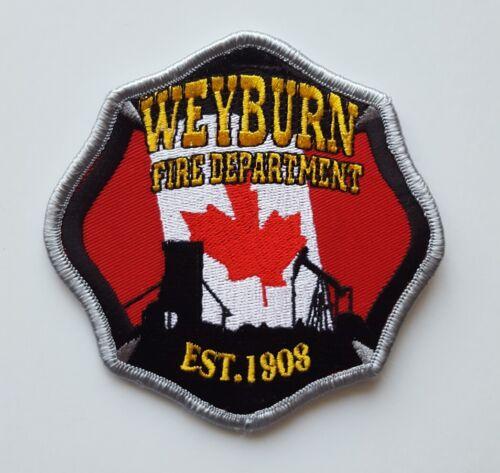 Weyburn Saskatchewan Canada Fire Department white patch, new condition