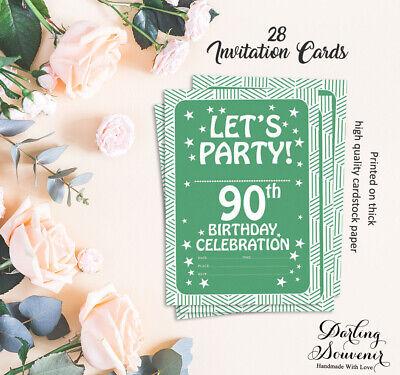 Druckbare Karten (Geburtstag Einladungskarte Druckbare elegante Party lädt 28 Stück-DS-IN189A)