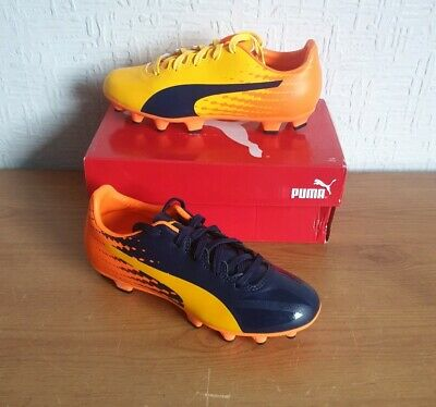 Boys/Kids Puma Evospeed 17.4 Fg Football Boots/Shoes - Size UK 1 (Eur 33)