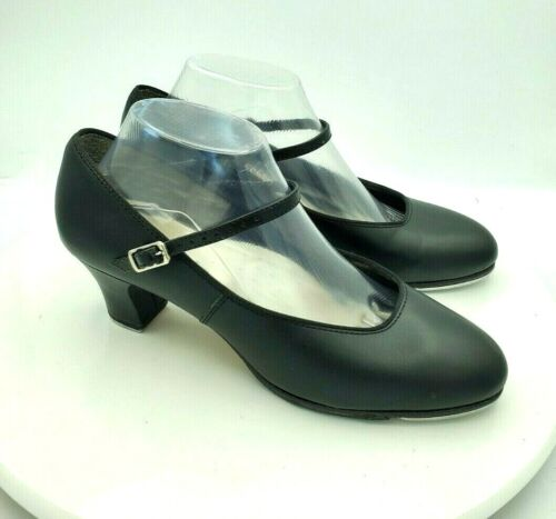 """Capezio 561 Black Leather Mary Jane 2.25"""" Heeled Tap Shoes 9"""