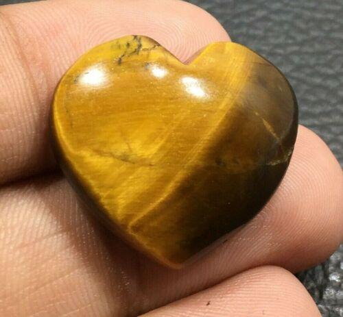 Natural Yellow Tiger Eye Cabochon Gemstone Heart  Shape 30 Cts UPE-3