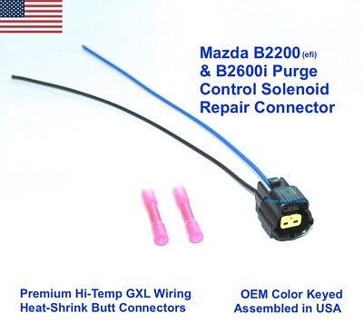 Mazda B2600i Vapor Canister Purge Solenoid CONNECTOR PLUG Repair Pigtail 626 929