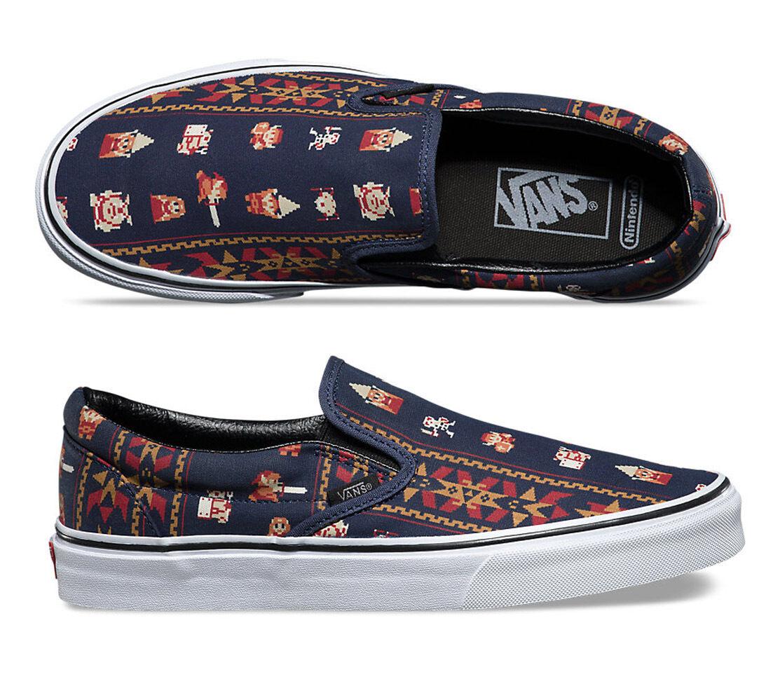 b707b17f6a Vans x Nintendo Legend of Zelda Parisian Night Slip-On Shoes - Mens USA 11.5