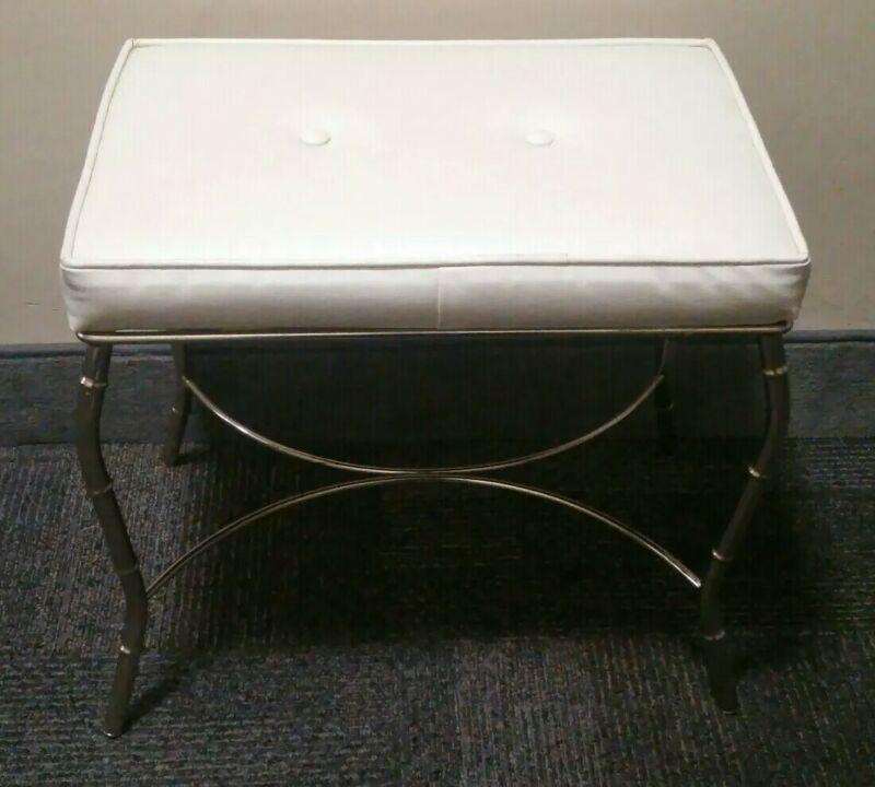 Vintage George Koch Sons Bench Stool Vanity Chair Mid Century Chrome