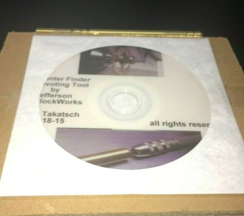 New Pivot Replacement Center Finding Tool for Clock Repair plus How To DVD Video