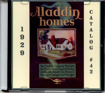 1929 Aladdin Readi-Cut Homes Catalog #42 on CD - Line Drawings, Floor Plans more