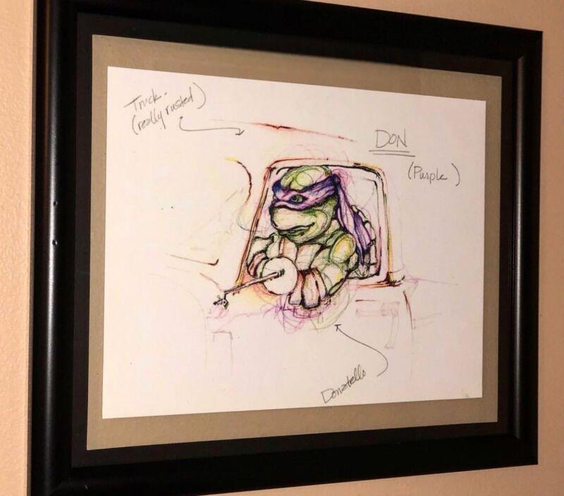 Donatello Sketch TMNT Teenage Mutant Ninja Turtles Reproduction Scan