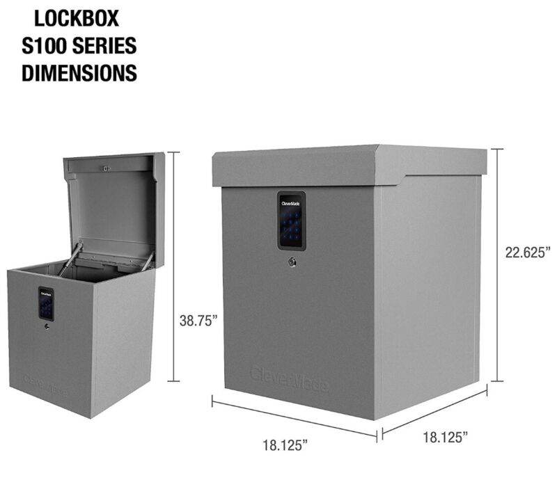 Clever Made Parcel Lock Box S100 Series - Package Theft & Weather Protection