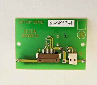 Leica Heerbrugg Battery Board With 3.6v Inorganic Lithium Aa Battery 707024-a