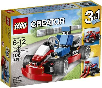 Retired LEGO Creator Set 31030 Red Go-Kart 3 in 1 New & Factory Sealed