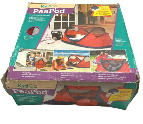 KidCo PeaPod | P101 Red | Portable Indoor Outdoor Travel Bed w/ Storage Bag