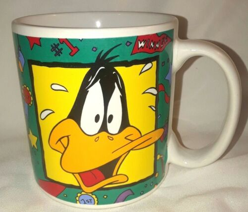 Vintage 1994 Warner Bros Looney Tunes Daffy Duck Coffee Mug cup