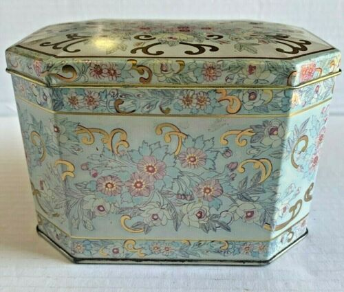 Vintage Meister Tin Container Tea Candy Trinket Container Made in Brazil