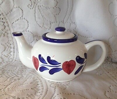 Vintage  Attractive White Teapot With Heart Design (GA)