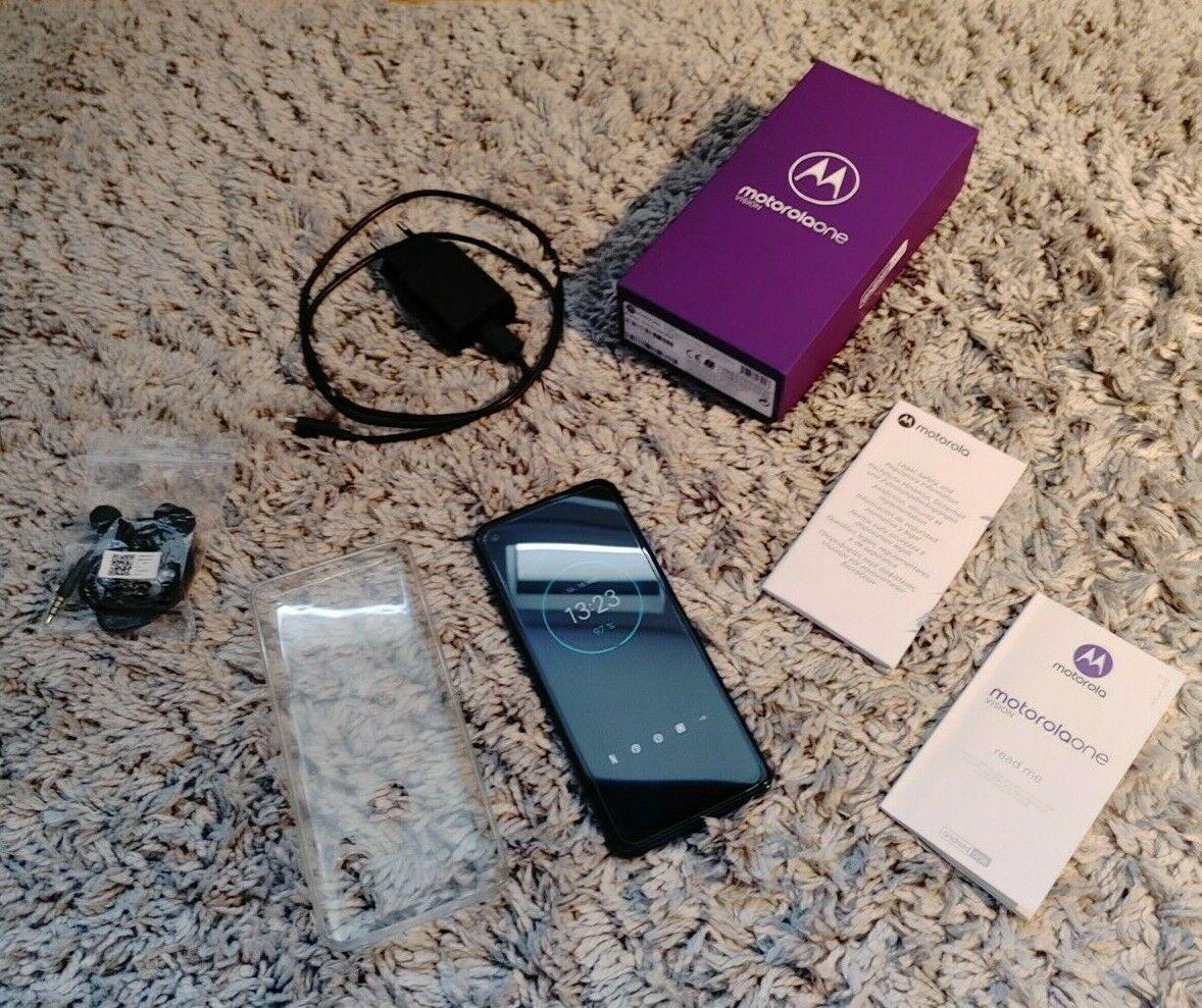 Motorola One Vision - 128GB - Blau (Ohne Simlock) (Dual-SIM) Android 11