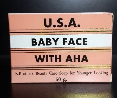 K.Brothers Beauty Care Soap Younger Looking Baby Face AHA 50g