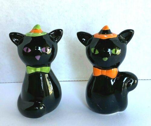 Ganz Halloween BLACK CAT Salt and Pepper Shaker Set