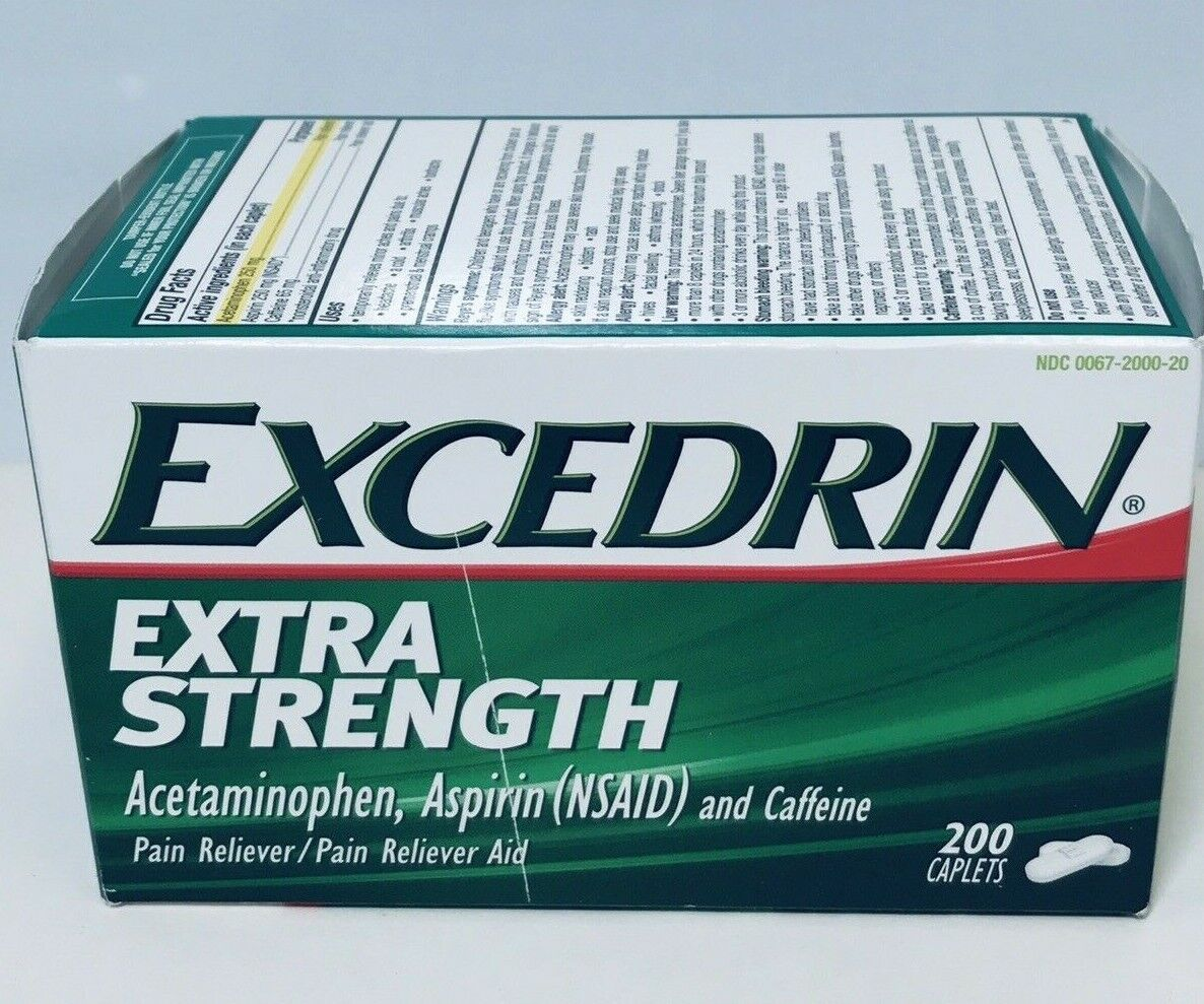 Excedrin Extra Strength Caplets for Headache Pain Relief, 20