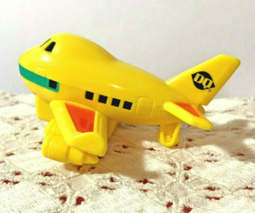VINTAGE DAIRY QUEEN YELLOW AIRPLANE TOY