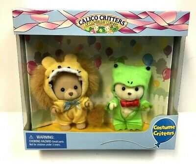 Calico Critters Costume Critters - Lion and Frog CC9011 RARE NIB Calico Critters Frog