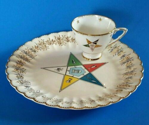 Masonic Teacup & Plate Royal Stafford Bone China Order of the Eastern Star OES
