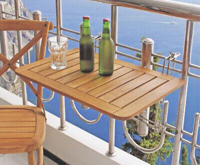 Balcón Mesa Plegable Madera de Teca Colgante Colgar en el
