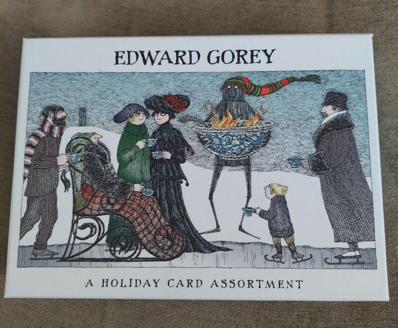 Edward Gorey Christmas Holiday 14 Cards Gothic