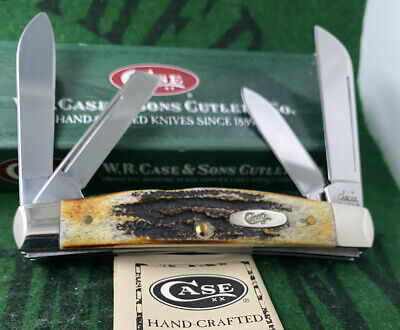 case xx 6.5 Congress Knife 2002 Great Bone Stag Handles Unused Mint Long Pull