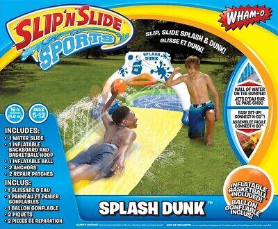 Wham-O Slip N Slide Splash Dunk 16' Water Slide Backyard Summer Water Toy NEW -