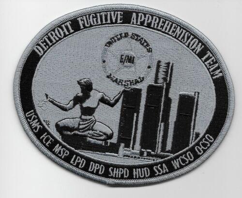 USMS US Marshal Michigan State Police Fugitive Apprehension Subdued Gray GMAN