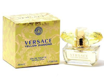 RRP £55 Brand New Box & Sealed Versace Yellow Diamond Eau de Toilette Spray 50ml