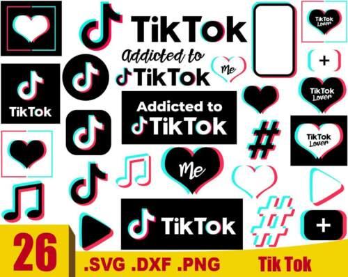 Tik Tok SVG, Tik Tok , Tik Tok Logo, SVG, PNG, DXF