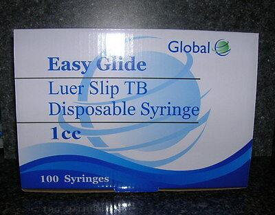 100- 1 Cc Luer Slip Tuberculin Syringes 1ml Sterile New Syringe Only No Needle