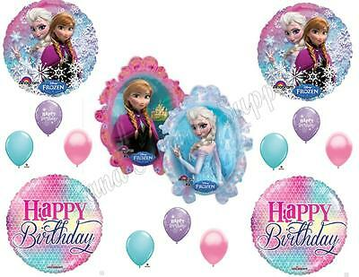 Girly Party Decorations (FROZEN ANNA ELSA GIRLY Birthday Balloons Decoration Supplies Party Let It)