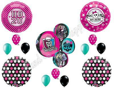 Monster High Birthday Supplies (MONSTER HIGH ORBZ SKULLETTE HB2U Birthday party Balloons Decoration)