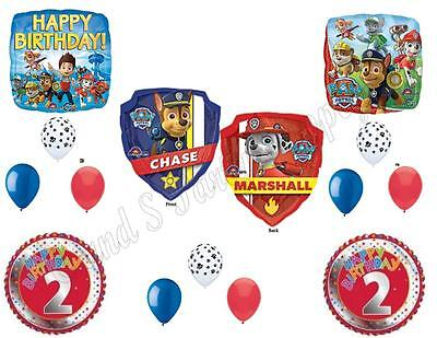 PAW PATROL 2nd Birthday Balloons Decoration Supplies Party S