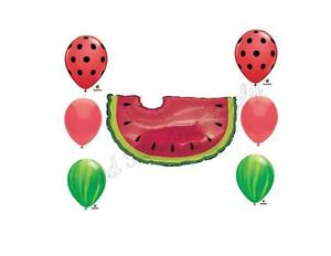 WATERMELON PICNIC Birthday Balloons Decoration Supplies Party Summer Seeds