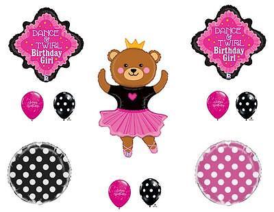 DANCING BALLERINA BEAR Birthday Party Balloons Decoration Supplies Ballet Twirl - Dancing Bear Parties